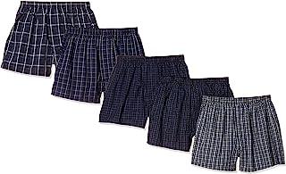 Cecile 平角内裤 *棉 原纱染色条纹 不同花色5条装 前开式 男士
