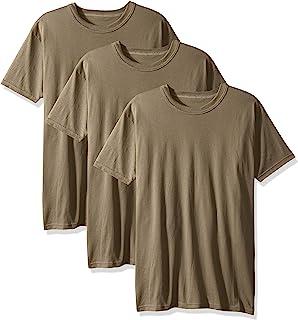 Soffe 男式 3 件装 - 美国涤纶/棉军装 T 恤 棕褐色 Large