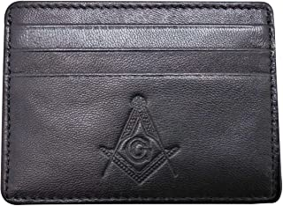RFID 共济会极简主义超薄前袋信用卡夹