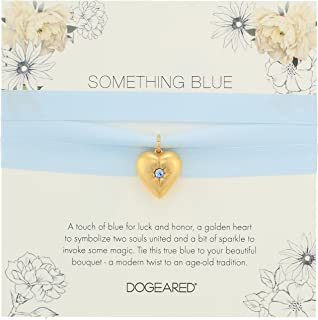 Dogeared Something Blue 花束环,标准纯银