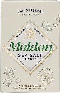 Maldon 盐,粗粒盐,犹太洁食,天然,手工制作,美食,金字塔形晶体,8.5盎司(240克)