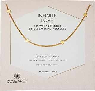 Dogeared 女式金色无限爱心链项链
