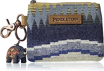 Pendleton 男式 ID 袋,带熊钥匙链