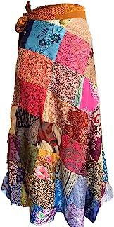 纱丽丝绸复古拼接裹身裙
