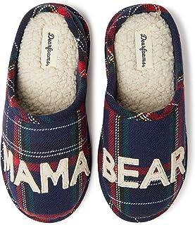 Dearfoams 女士家庭系列Mama Bear 格子洞洞鞋