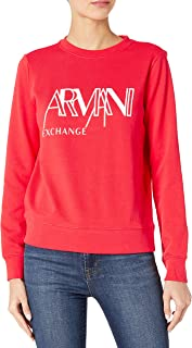 A|X Armani Exchange 女式模板标志套头运动衫