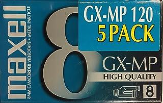 Maxell GX-MP 8mm 120 分钟摄像机视频录像带(5 片装)