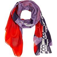BOSS 女士 Nevah 围巾 紫色 (Light/Pastel Purple 531), One Size (制造商…