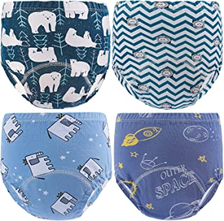 Auranso 幼儿如厕训练裤,4 条装棉质厕所尿裤,男女宝宝均适用,12M-4T