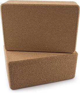 Da Vinci 优质天然软木瑜伽砖套装 - 高*,9 x 6 x 4 英寸