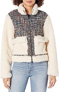 KENDALL + KYLIE 女式混合材质拉链夹克