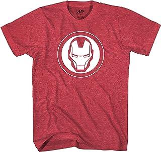 Marvel 复仇者钢铁侠面具标志结束游戏 男士 T 恤