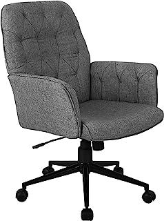 Techni Mobili Executive 现代软垫管办公椅,带扶手,常规,灰色