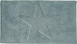 Kela 21170 防滑浴室垫适用于地暖,* 棉 65 x 55 厘米 Lindano 星型冰川灰色