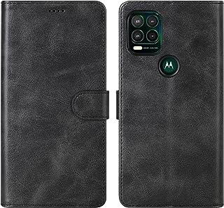 Cresee 适用于摩托罗拉 Moto G Stylus 5G 2021 手机壳,PU 皮革钱包翻盖保护套 [3 个卡槽 1 个钱袋] [磁扣] [支架] Moto G Stylus 5G 2021 对开式手机壳 - 黑色