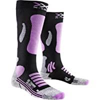 X-Socks 女士滑雪旅行银色 2.0 紧身裤,女士,SKI TOURING 银色 2.0,黑色/粉色