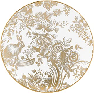 Lenox Marchesa Gilded Forest Accent Plate,白色