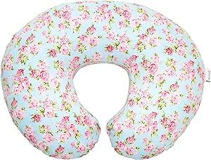 Mila Millie 优质哺乳枕套 - 灰色 V 形图案中性款设计枕套 - * 棉防* - 非常适合*喂养妈 - 完美的婴儿送礼佳品 蓝色