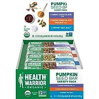 Health Warrior 南瓜籽蛋白棒,多种包装,8克植物蛋白,不含麸质,Organic认证,12件