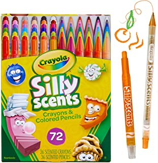 Crayola 绘儿乐 Silly Scents Twistables,香味蜡笔和铅笔,72支