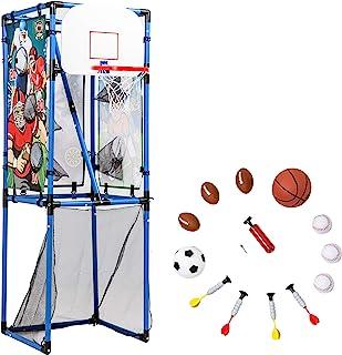 Sport Squad 5 合 1 多功能运动儿童游戏套装 - 采用棒球、篮球、足球、软头弹 - 非常适合室内和室外玩耍