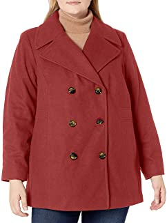 LONDON FOG 女式双排扣围巾大衣