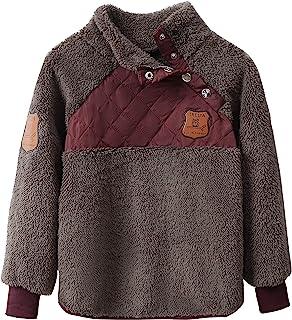 IRELIA 冬季儿童女孩男孩法兰绒夹克羊毛保暖外套