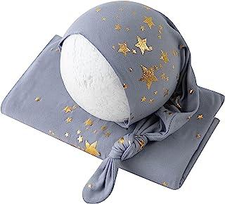 新生儿摄影道具婴儿照片道具女孩男孩星空帽带毯子包装套装套装