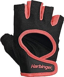 Harbinger 女式 Power Weightlifting 手套,带弹力背部网布和皮革手掌(1 双)