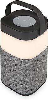 Akai A58072 便携式蓝牙灯 LED 扬声器带可充电内置电池 - 银色