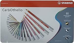 STABILO パステル色鉛筆 CarbOthello 60色セット(缶ケース) アソート