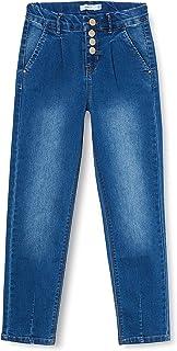NAME IT 女孩牛仔裤常规修身高腰