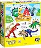 Creativity for Kids 使用粘土恐龙创造力 - 构建 3 个恐龙模型,带模型粘土
