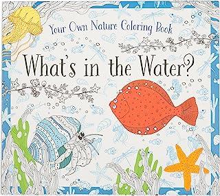 涂色书 - 水中什么 - 儿童涂色书,含 24 个美丽的插图