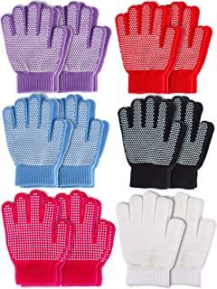 Sumind 12 双冬季针织魔力弹力手套儿童男孩女孩针织棉保暖手套