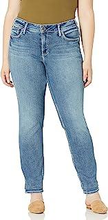 Silver Jeans Co. 女式加大码男友款中腰修身牛仔裤