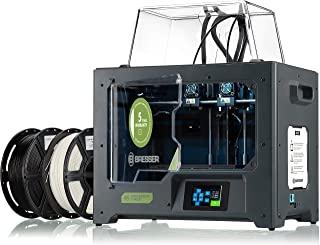 Bresser 宝视德 3D 打印机 T-REX 2 IDEX 3D 打印机 带 2 个独立挤压器和封闭金属外壳 *大尺寸 200 x 148 x 150 毫米 黑色