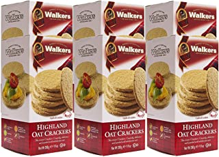 Walkers Shortbread 高地燕麦饼干,9.9盎司/280克(6盒装),传统燕麦饼干