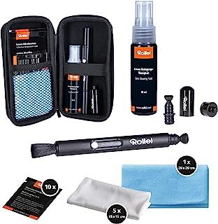 Rollei 相机清洁套装 Pro I 礼物,适用于摄影师 I 清洁套装 带转向架 微纤维布 湿巾 & 液体清洁剂