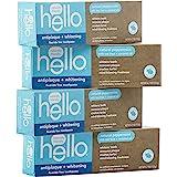 Hello Oral Care 无氟*牙膏 不含素食和SLS,天然薄荷茶树油和椰子油,4支装