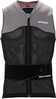 Atomic 男式滑雪防护背心  Live Shield 系列背心 AMID M,带 AMID Body 护垫 黑色 / 灰色 S