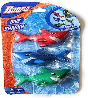 Funstuff 3 件套潜水鲨鱼泳池玩具   鲨鱼泳池玩具   水下鱼雷   适合儿童的伟大水玩具