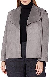 Kasper 女式潜水麂皮长袖前开襟夹克