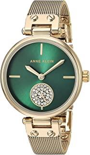 Anne Klein 女士施华洛世奇水晶重音网状手链手表