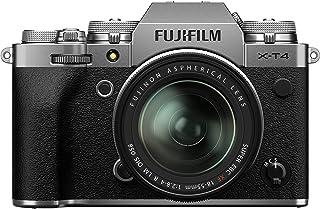 Fujifilm 富士 X-T4 无反光数码相机,银色 Fujinon XF18-55 毫米 F2.8-4 R LM 光学图像稳定器镜头套件
