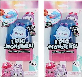 I Dig…Monsters 冰棒包装-2包可收藏ASMR玩具-有趣和可爱的释压玩具-款式可能不同,多色(75549)