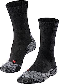 FALKE 徒步袜 TK2 羊毛男士 黑色 蓝色 多种颜色 加厚加厚徒步袜无图案,中等强度衬垫,温暖,适合远足 1 双