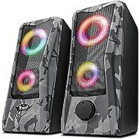 Trust Gaming GXT 606 Javv RGB-Illuminated 2.0 扬声器套装,适用于个人电脑和…