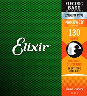 Elixir 13436 Nanoweb弦(超薄不锈钢低音单弦