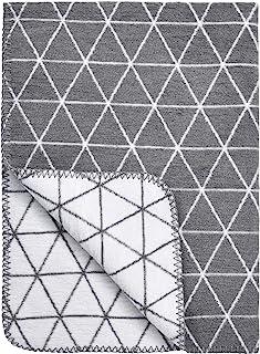 "Meyco 1531022 婴儿毯/毛绒毯""TRIANGLE"" 75x100 厘米,灰色"